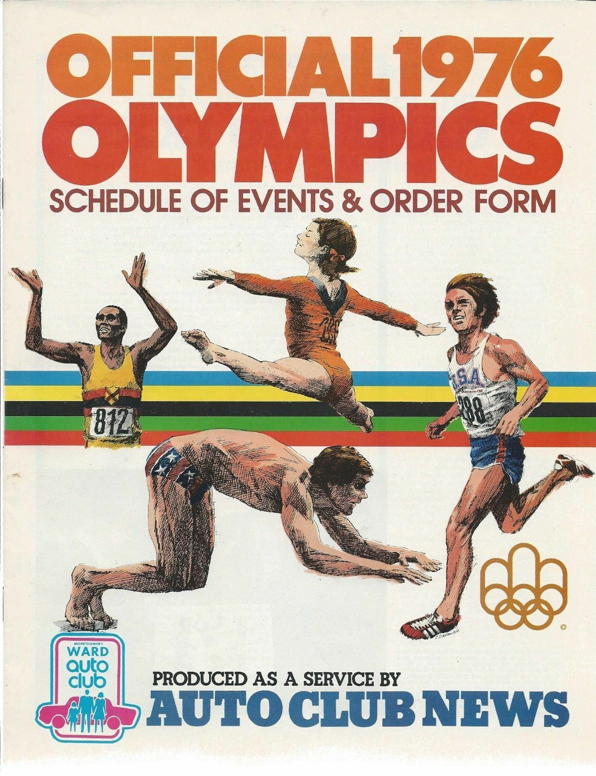 1976 Olympics Official Schedule of Events n Order Form