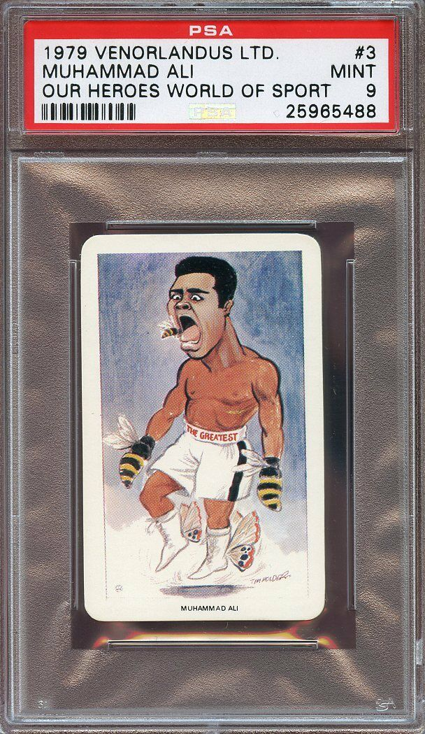 1979 venorlandus ltd world of sport #3 MUHAMMAD ALI boxing card PSA 9