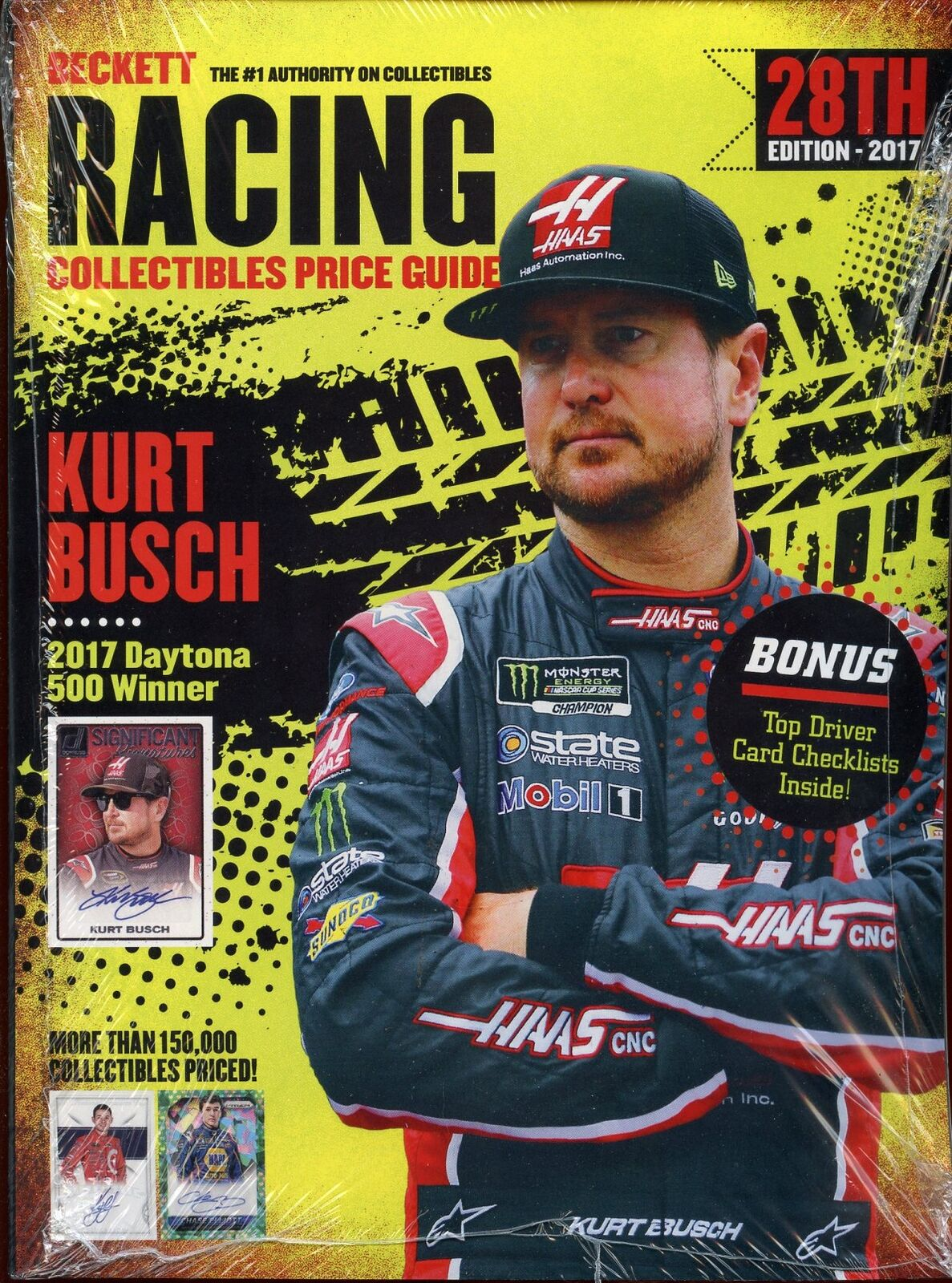 Details About 2017 Beckett Racing Collectibles Card Price Guide 28th Edition Kurt Busch