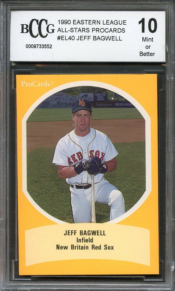 1990 eastern league all-star procards #el40 JEFF BAGWELL rookie card BGS BCCG 10