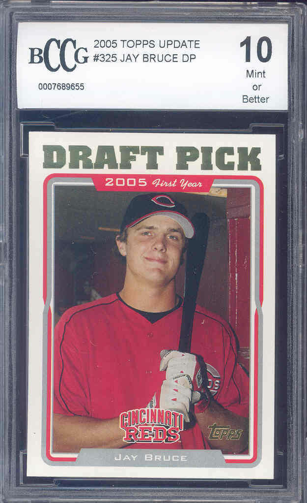 2005 topps update #325 JAY BRUCE rc rookie BGS BCCG 10