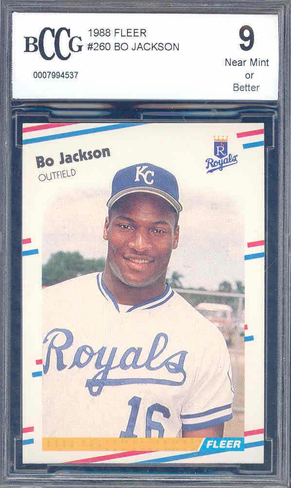 1988 fleer #260 BO JACKSON 2nd year royals BGS BCCG 9