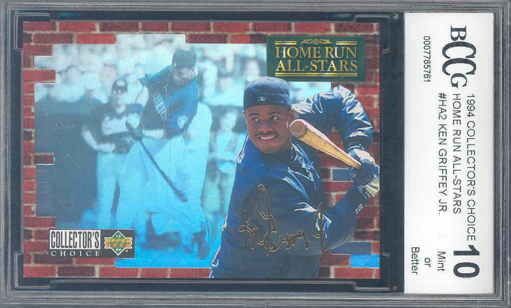 1994 collector's choice home run all-stars #ha2 KEN GRIFFEY JR BGS BCCG 10