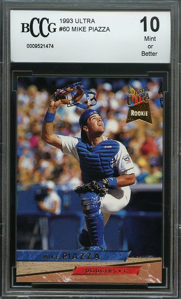 1993 ultra #60 MIKE PIAZZA los angeles dodgers rookie card BGS BCCG 10