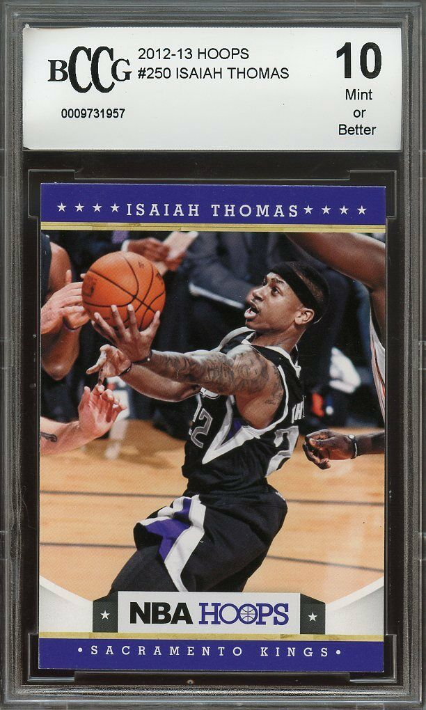 2012-13 hoops #250 ISAIAH THOMAS boston celtics rookie card BGS BCCG 10