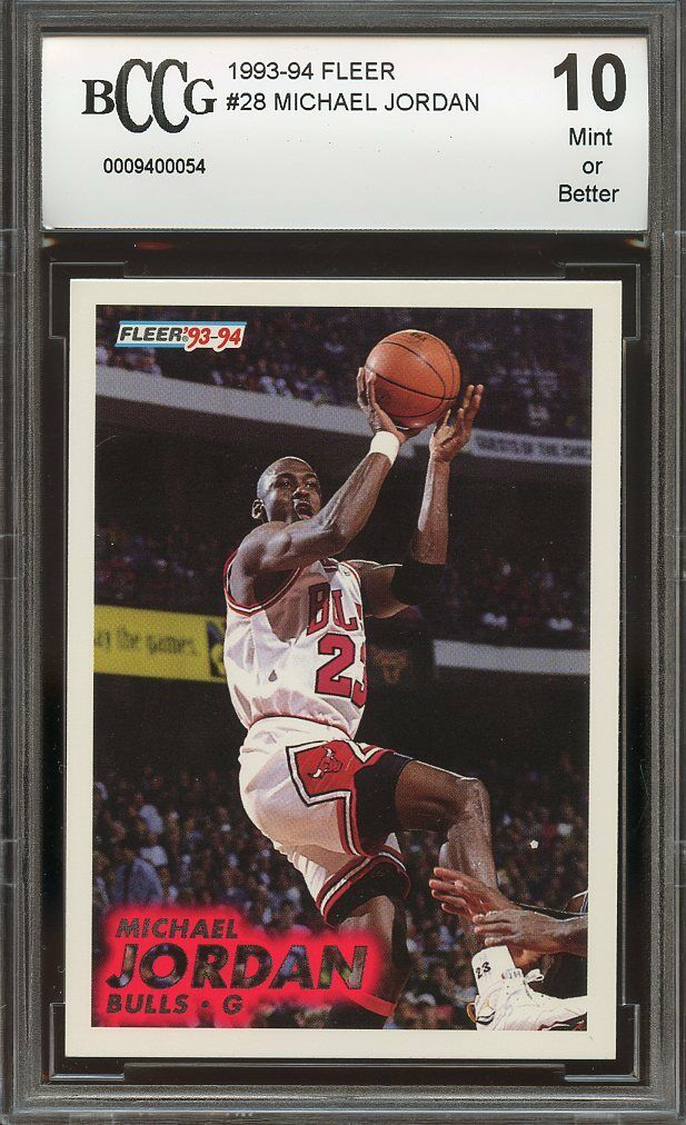 1993-94 fleer #28 MICHAEL JORDAN chicago bulls BGS BCCG 10