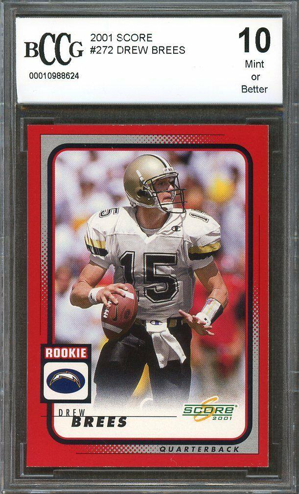 Details About 2001 Score 272 Drew Brees New Orleans Saints Rookie Card Bgs Bccg 10