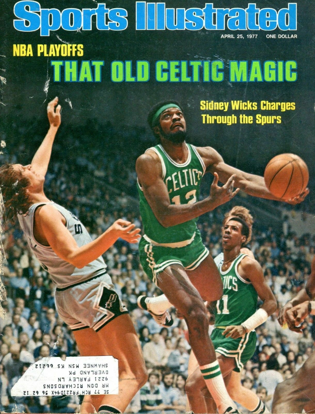 SI: Sports Illustrated April 25 1977 Sidney Wicks, Basketball, Boston Celtics G