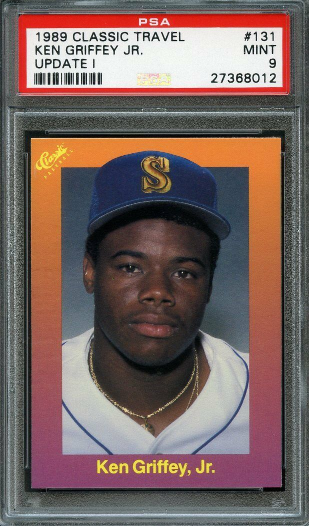 1989 classic travel update #131 KEN GRIFFEY JR seattle mariners rookie PSA 9