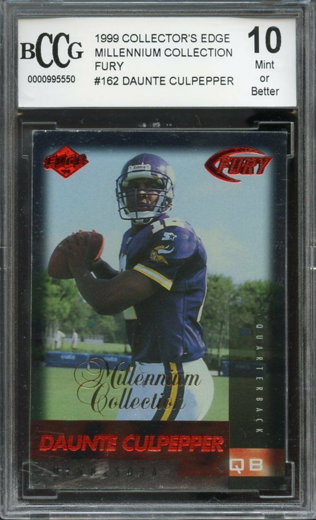 1999 collector's edge mill coll fury #162 DAUNTE CULPEPPER rookie BGS BCCG 10