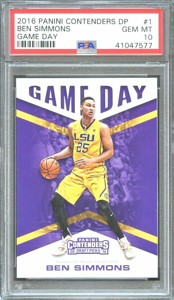 2016-17 panini contenders dp game day #1 BEN SIMMONS 76ers rookie card PSA 10
