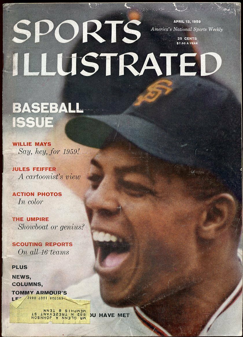SI: Sports Illustrated April 13, 1959 Willie Mays Say, hey, for 1959! G