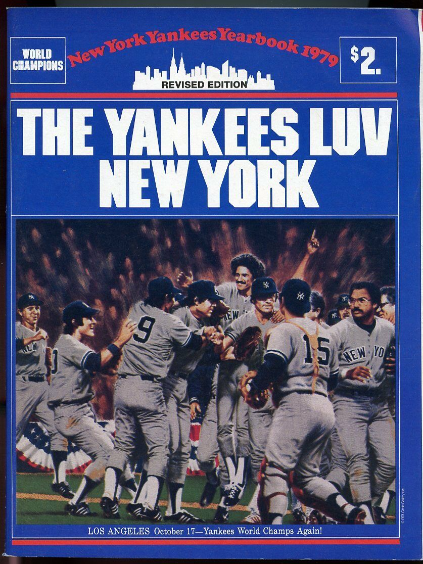 1979 Revised Edition New York Yankees World Champions Yearbook Media Guide VG