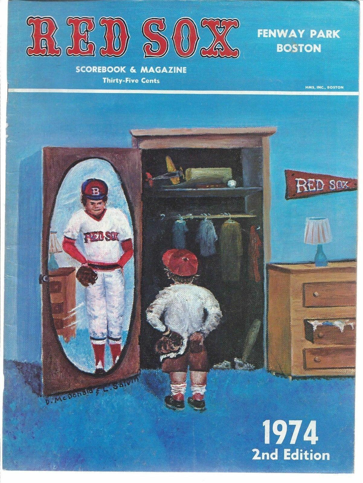 1974 Boston Red Sox Fenway Park Official Scorebook Magazine MLB Baseball