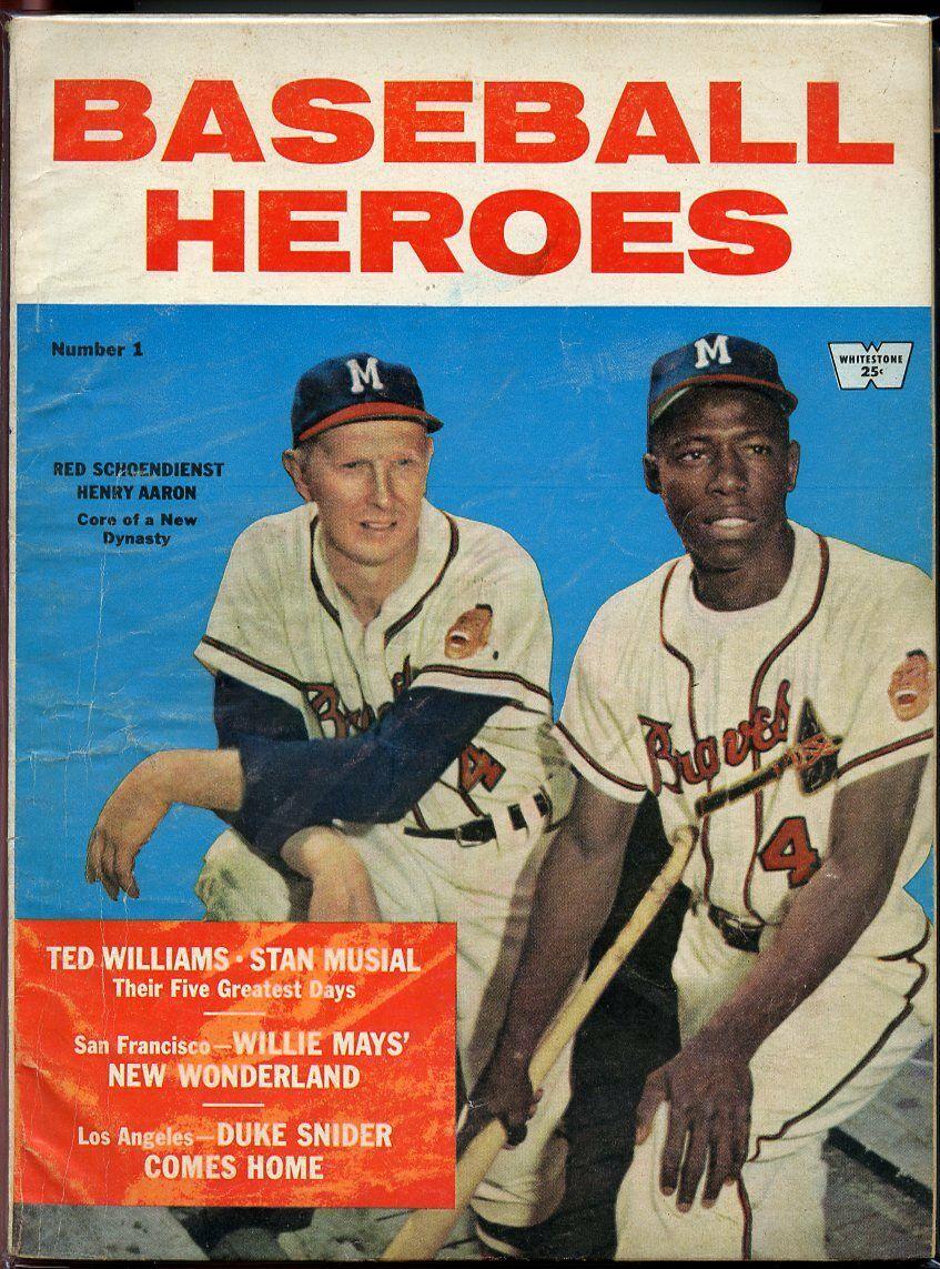 Baseball Heroes Magazine Number 1 1958 Red Schoendienst Hank Aaron Issue G