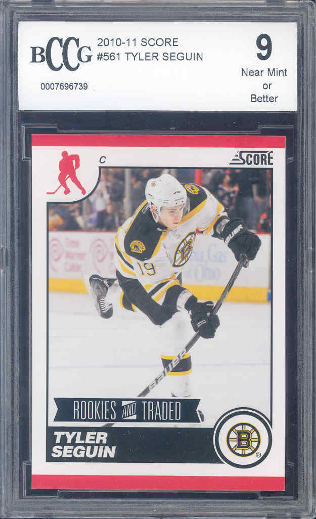 2010-11 score #561 TYLER SEGUIN rc rookie BGS BCCG 9