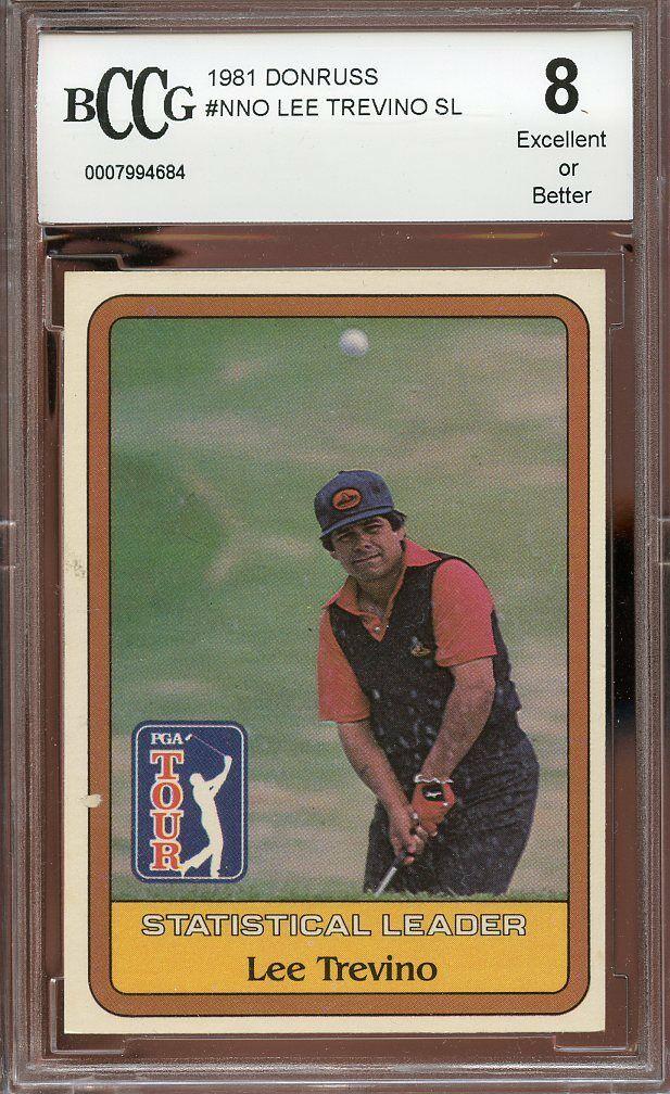 1981 donruss #nno LEE TREVINO SL rookie golf BGS BCCG 8
