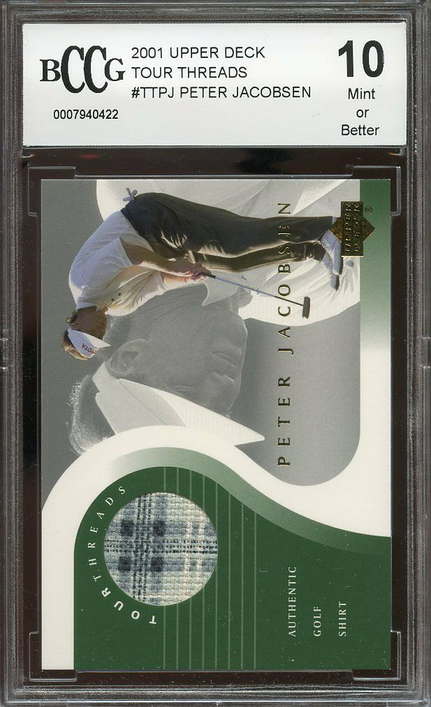 2001 upper deck tour threads #ttpj PETER JACOBSEN golf BGS BCCG 10