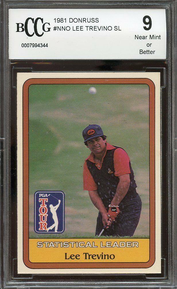 1981 donruss #nno LEE TREVINO SL golf BGS BCCG 9