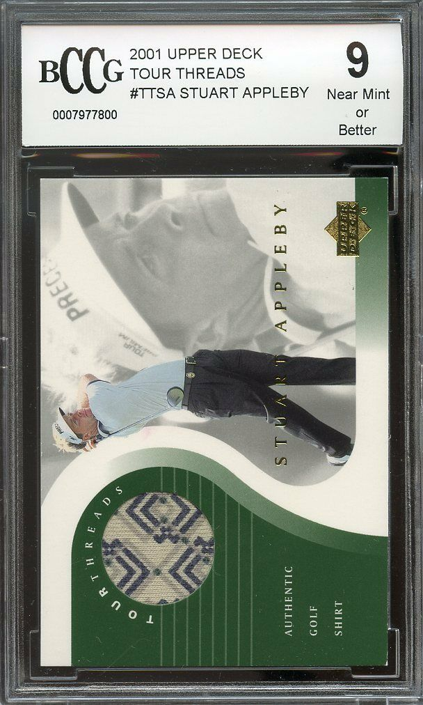 2001 upper deck tour threads #ttsa STUART APPLEBY golf BGS BCCG 9