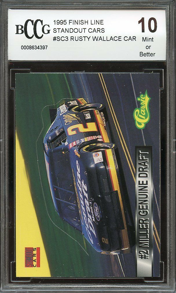 1995 finish line standout cars #sc3 RUSTY WALLACE CAR BGS BCCG 10