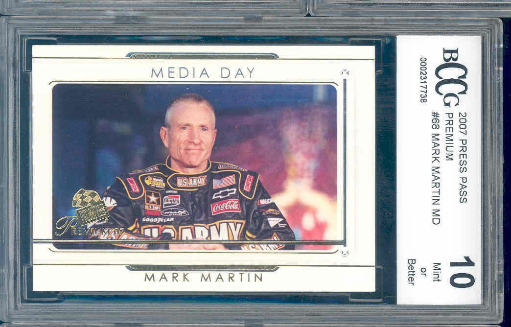 2007 press pass premium #68 MARK MARTIN MD racing BGS BCCG 10