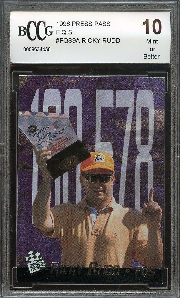 1996 press pass F.Q.S. #fqs9a RICKY RUDD BGS BCCG 10