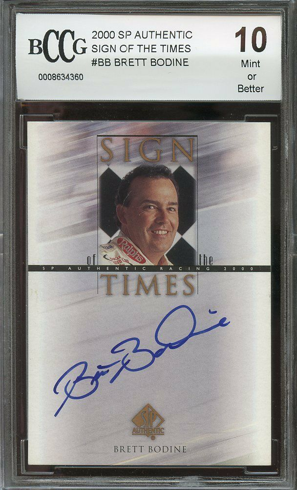 2000 sp authentic sign of the times #bb BRETT BODINE autograph BGS BCCG 10