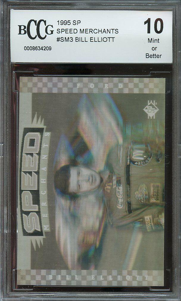 1995 sp speed merchants #sm3 BILL ELLIOTT BGS BCCG 10