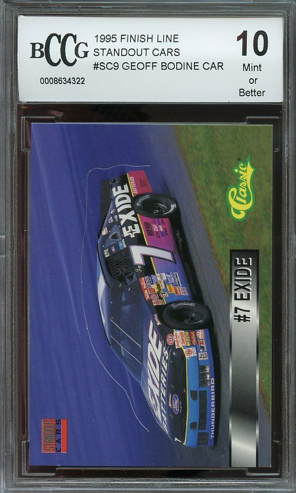 1995 finish line standout cars #sc9 GEOFF BODINE CAR BGS BCCG 10
