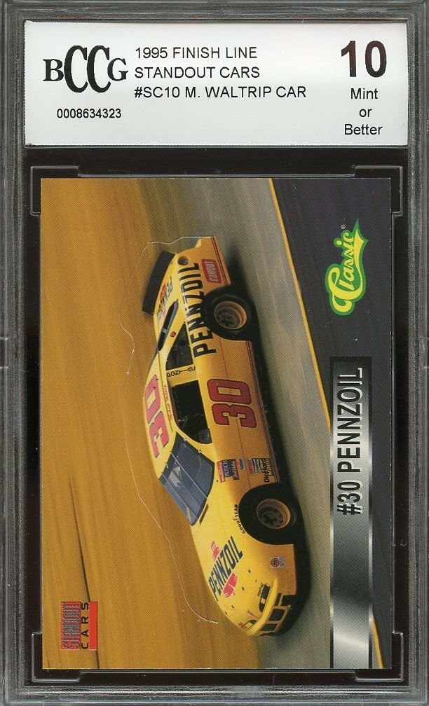 1995 finish line standout cars #sc10 MICHAEL WALTRIP CAR BGS BCCG 10