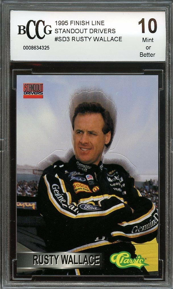 1995 finish line standout cars #sd3 RUSTY WALLACE BGS BCCG 10