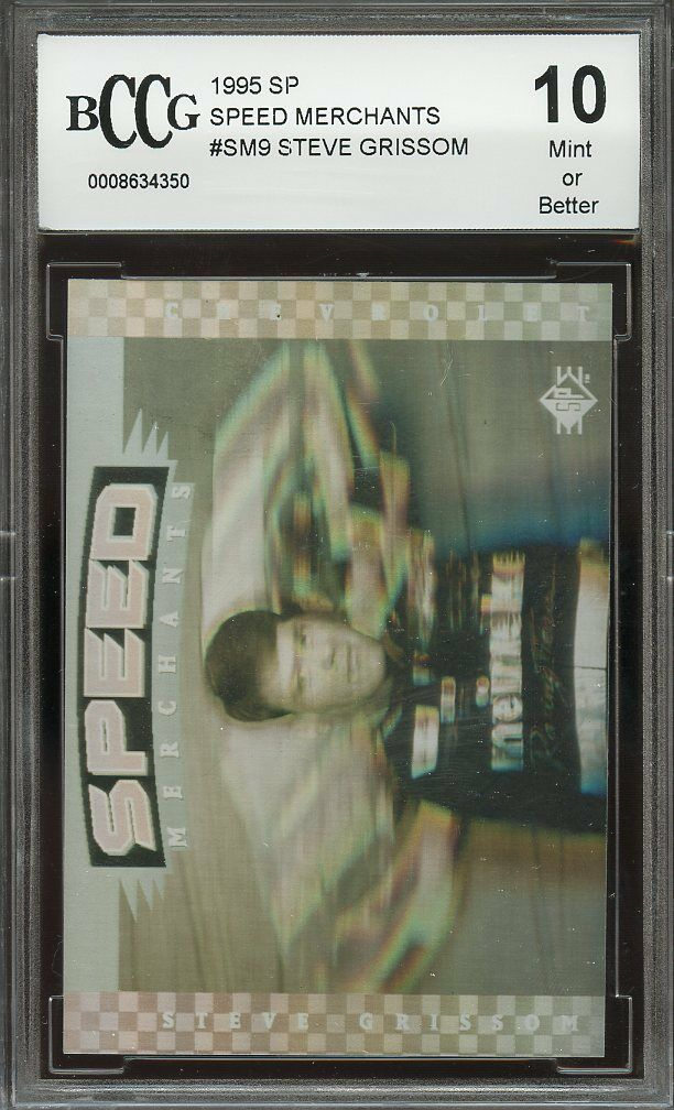 1995 sp speed merchants #sm8 STEVE GRISSOM BGS BCCG 10