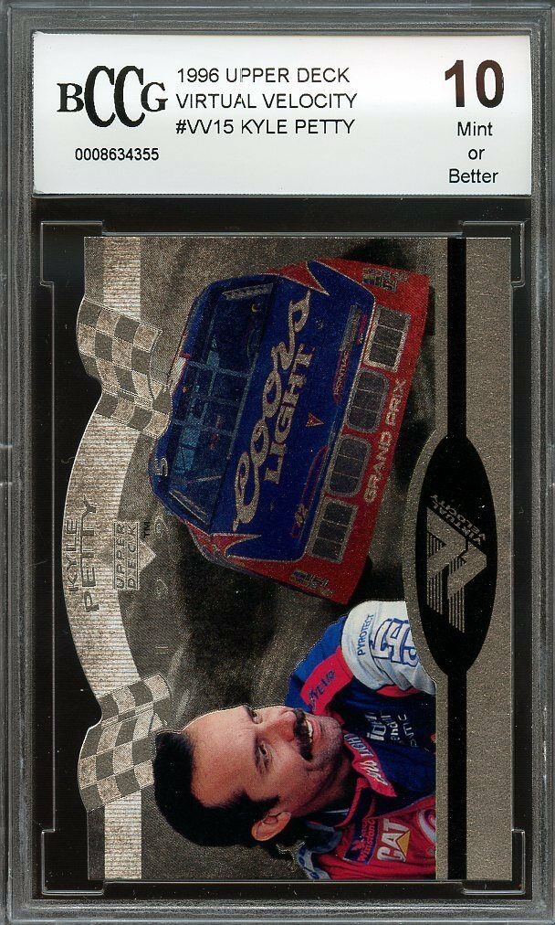 1996 upper deck virtual velocity #vv15 KYLE PETTY BGS BCCG 10