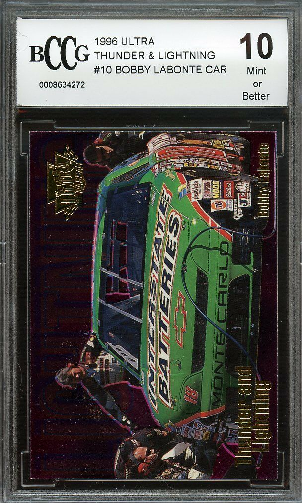 1996 ultra thunder n lightning #10 BOBBY LABONTE CAR BGS BCCG 10
