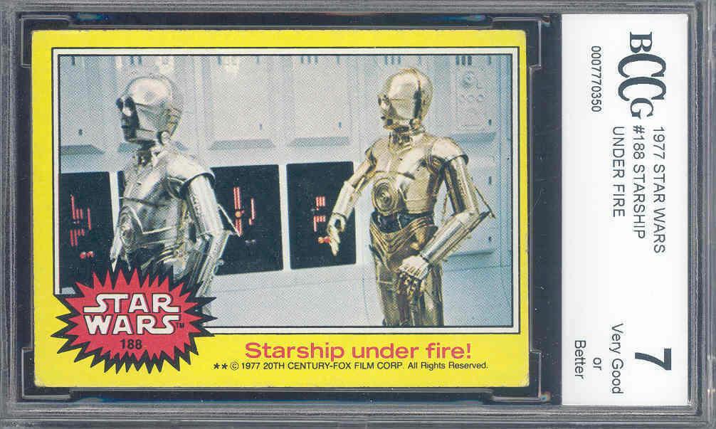 1977 star wars #188 STARSHIP UNDER FIRE  BGS BCCG 7