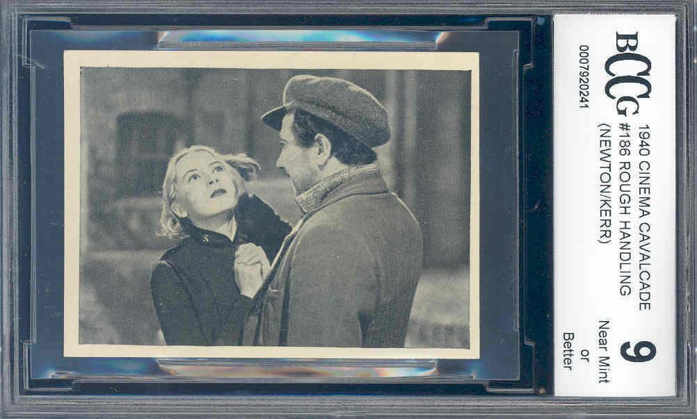 1940 cinema cavalcade #186 ROUGH HANDLING (NEWTON/KERR) BGS BCCG 9