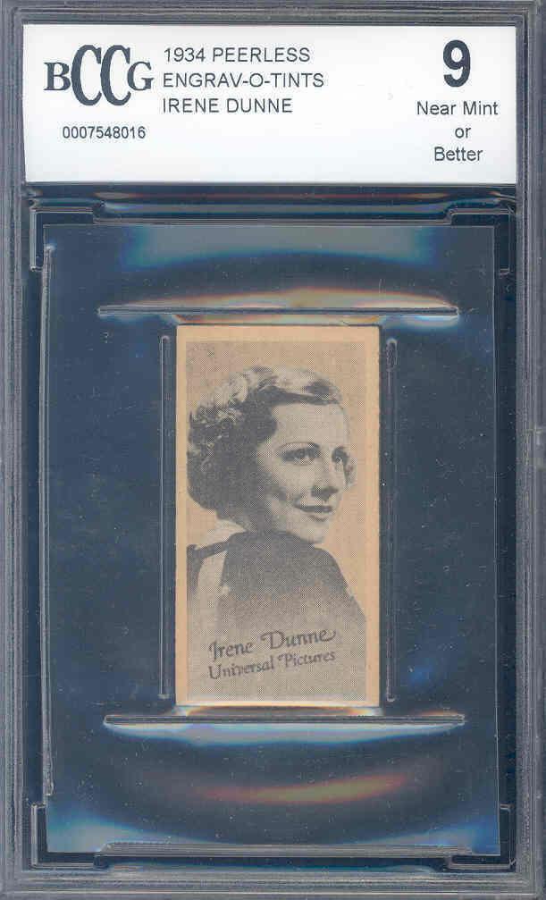 1934 peerless engrav-o-tints IRENE DUNNE BGS BCCG 9