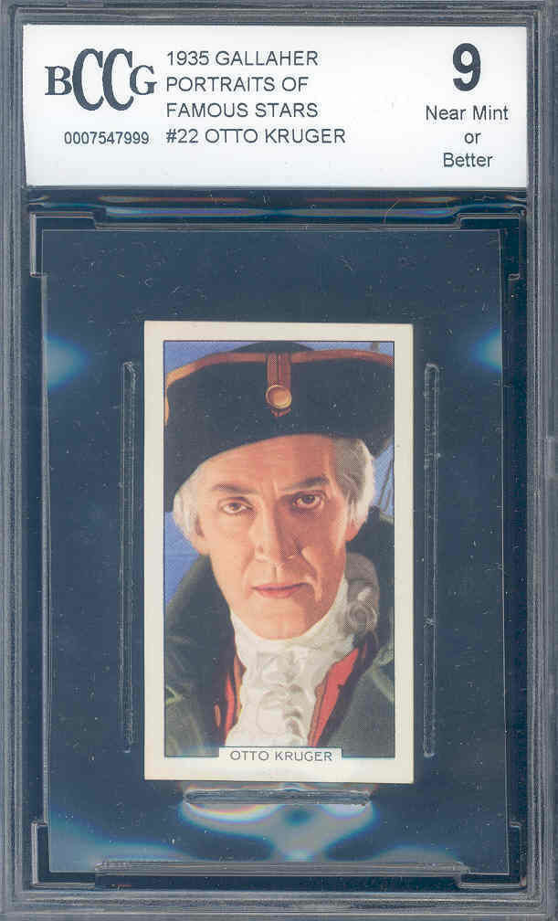 1935 gallaher portraits of famous stars #22 OTTO KRUGER BGS BCCG 9