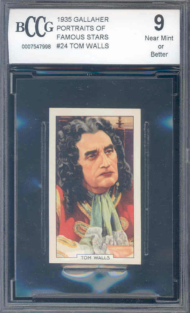1935 gallaher portraits of famous stars #24 TOM WALLS BGS BCCG 9