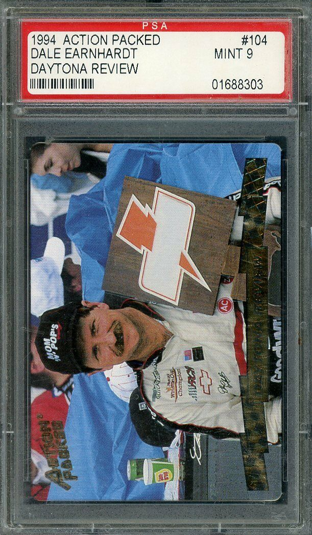1994 action packed daytona review #104 DALE EARNHARDT nascar PSA 9