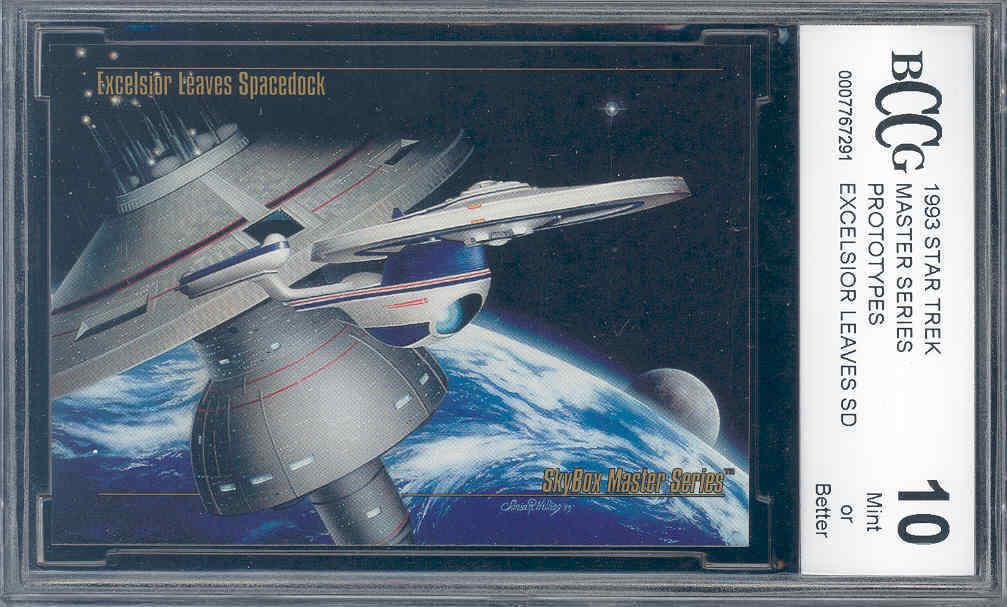 1993 star trek master series prototypes EXCELSIOR LEAVES SD  BGS BCCG 10