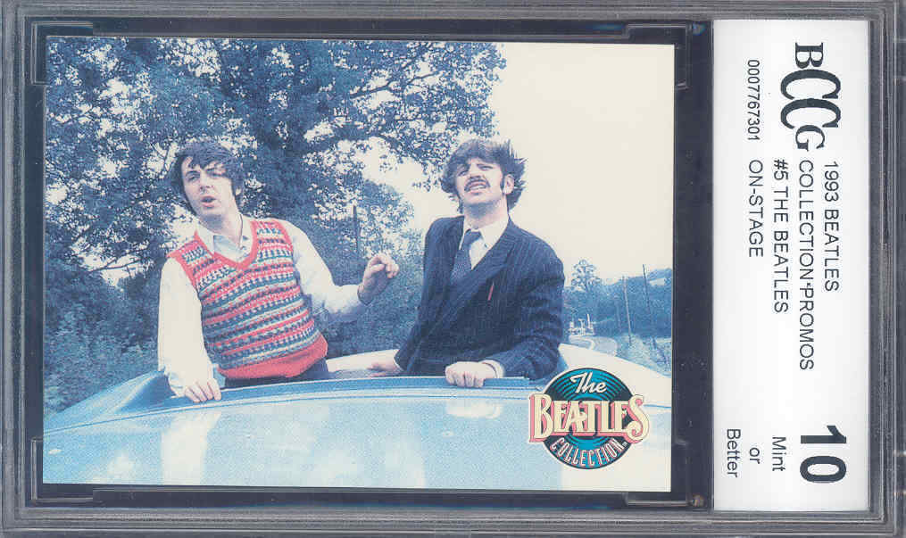 1993 beatles collection-promos #5 THE BEATLES ON STAGE BGS BCCG 10