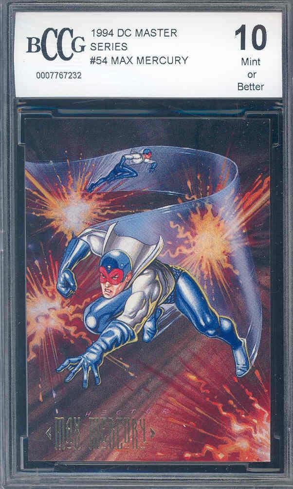 1994 dc master series #54 MAX MERCURY BGS BCCG 10