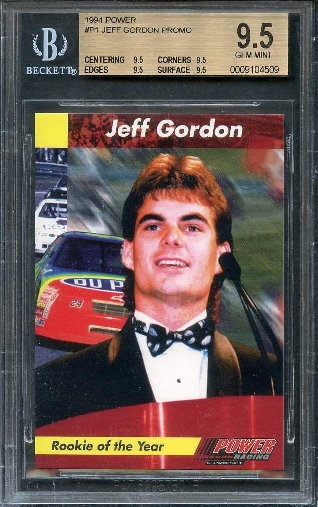 1994 power #p1 JEFF GORDON PROMO nascar (pop 1) BGS 9.5 (9.5 9.5 9.5 9.5)