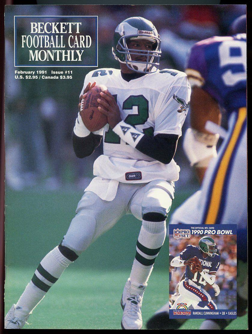 Beckett Football Card Monthly #11 February 1991 Randall Cunningham Eagles VG
