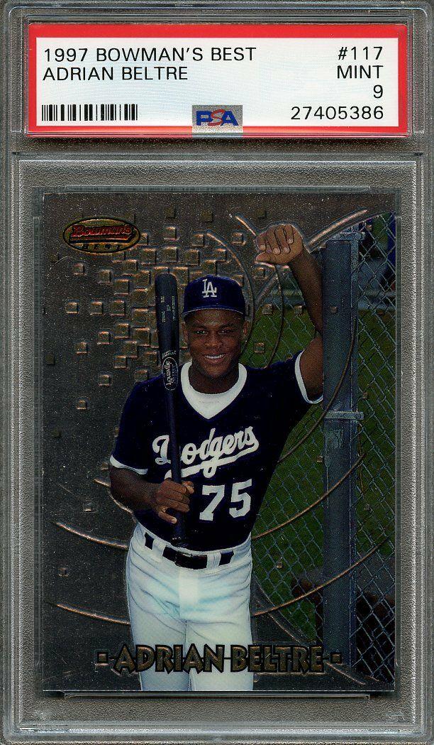 1997 bowman's best #117 ADRIAN BELTRE texas rangers rookie card PSA 9