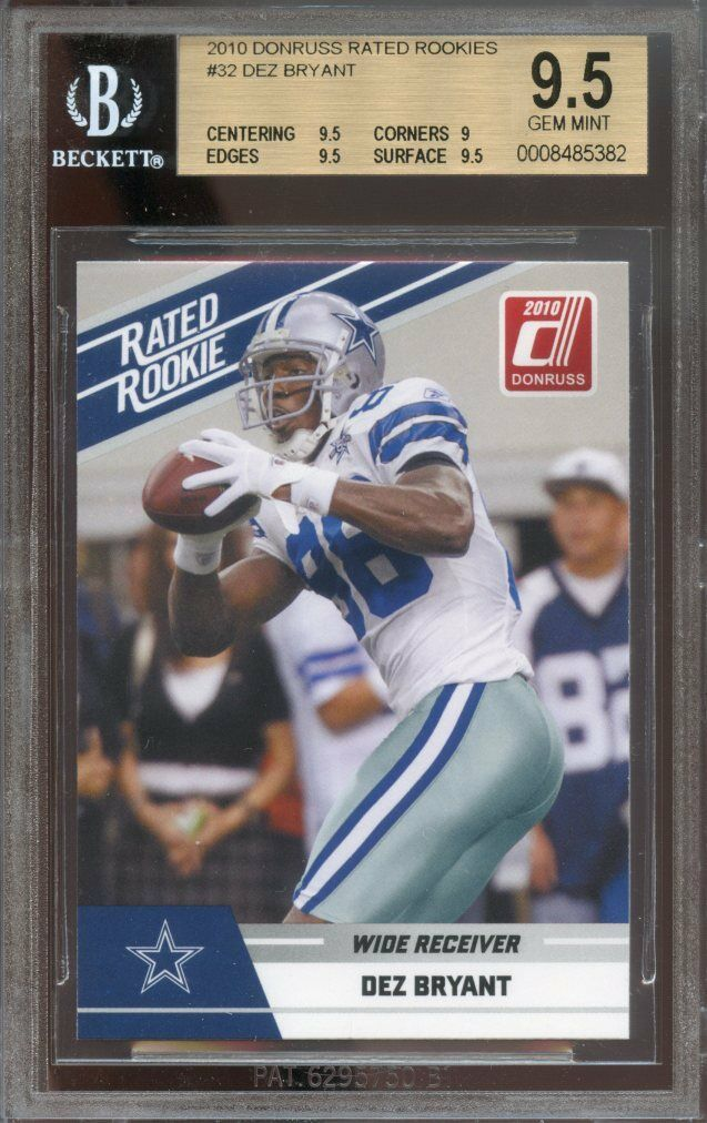 Dallas Cowboys 2010 Donruss Rated Rookies #32 Dez Bryant RC - Rookie Card Football Cards