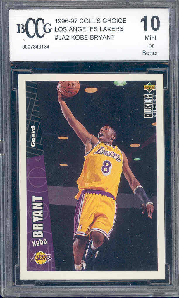 1996-97 coll's choice los angeles lakers #la2 KOBE BRYANT rookie BGS BCCG 10