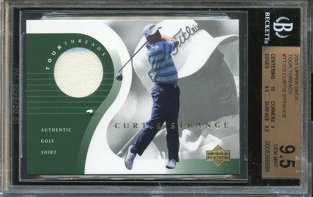 2001 upper deck tour threads #tt-cs CURTIS STRANGE golf BGS 9.5 (10 9 9.5 9.5)